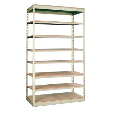 "Hallowell Rivetwell Single Rivet Boltless 84"" H 7 Shelf Shelving Unit Add-on"