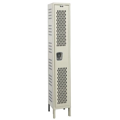 Hallowell Heavy-Duty Ventilated Locker Single Tier 1 Wide (Knock-Down) (Quick Ship)