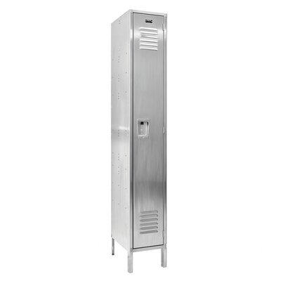 Hallowell 304 Stainless Steel Locker Single Tier 1 Wide (Assembled) (Quick Ship)