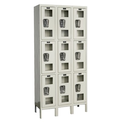 Hallowell Safety-View Stock Lockers - Triple Tier - 3 Sections (Assembled)