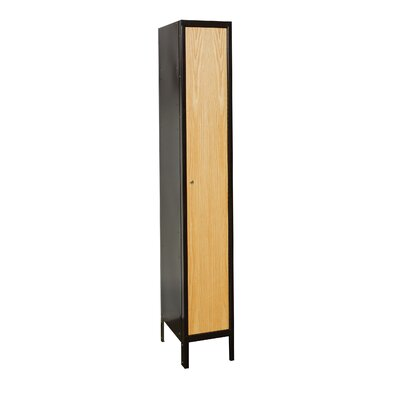 Hallowell Metal Wood Hybrid Locker Single Tier 1 Wide (Assembled)