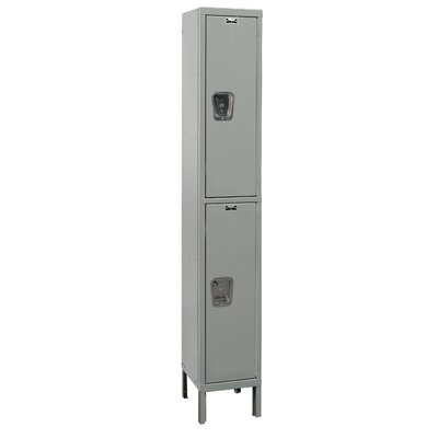 Hallowell Maintenance-Free Quiet Locker Double Tier 1 Wide (Assembled) (Quick Ship)
