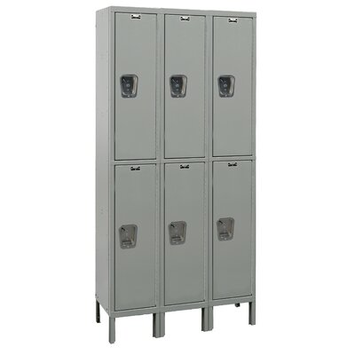 Hallowell Maintenance-Free Quiet Locker Double Tier 3 Wide (Knock-Down) (Quick Ship)