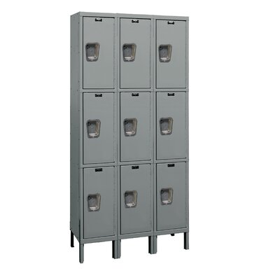 Hallowell Maintenance-Free Quiet Locker Triple Tier 3 Wide (Assembled)