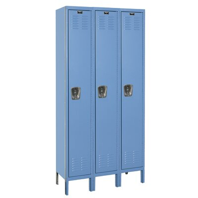 Hallowell Premium Locker Single Tier 3 Wide (Assembled)