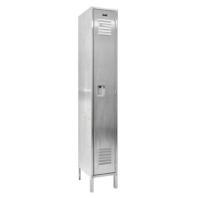 Hallowell 304 Stainless Steel Locker Single Tier 1 Wide (Assembled)