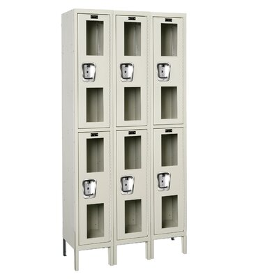 Hallowell Safety-View Locker Double Tier 3 Wide (Assembled) (Quick Ship)