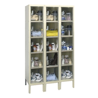 Hallowell Safety-View Plus Locker 5 Tier 3 Wide (Assembled) (Quick Ship)