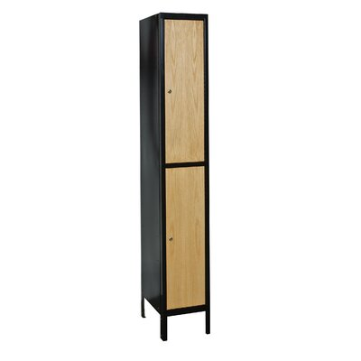 Hallowell Metal Wood Hybrid Locker Double Tier 1 Wide (Assembled) (Quick Ship)