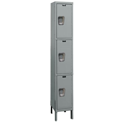 Hallowell Maintenance-Free Quiet Locker Triple Tier 1 Wide (Assembled)