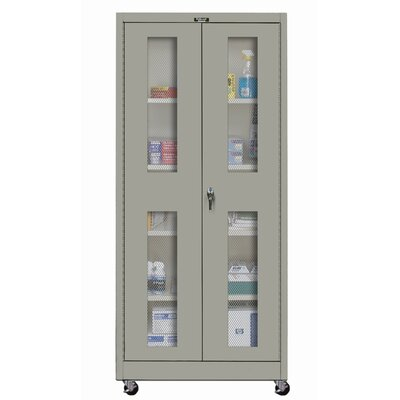 Hallowell 400 Series Mobile Ventilated Assembled Storage Cabinet