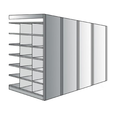 "Hallowell Deep Bin 87"" H 7 Shelf Shelving Unit Add on"