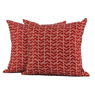 LJ Home Chevron Polyester Cushion