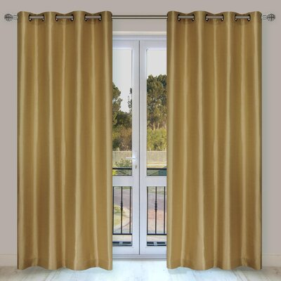 LJ Home Silkana Grommet Curtain Panel  (Set of 2)