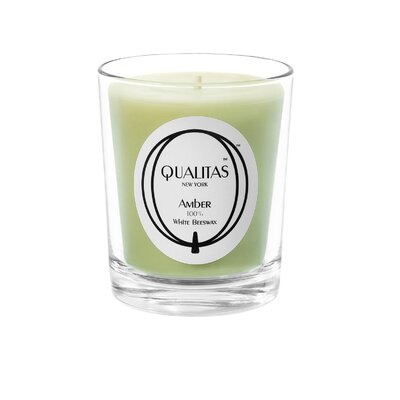 Qualitas Candles Beeswax Amber Scented Candle
