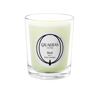 Qualitas Candles Beeswax Basil Scented Candle