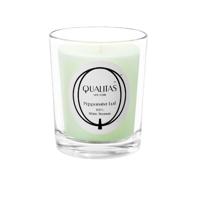 Qualitas Candles Beeswax Peppermint Leaf Scented Candle