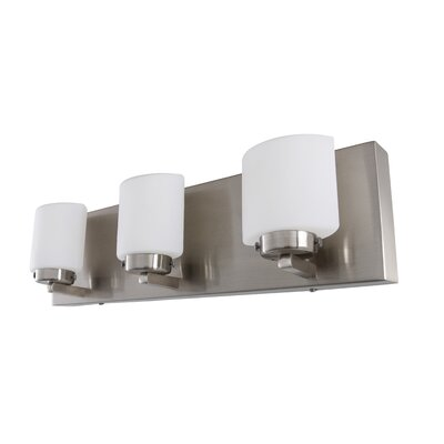 Vanity With Led Lights : Alternating Current Clean 3 Light LED Vanity Light & Reviews Wayfair