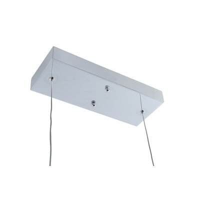 Alternating Current Halo 3 Light LED Linear Kitchen Island Pendant