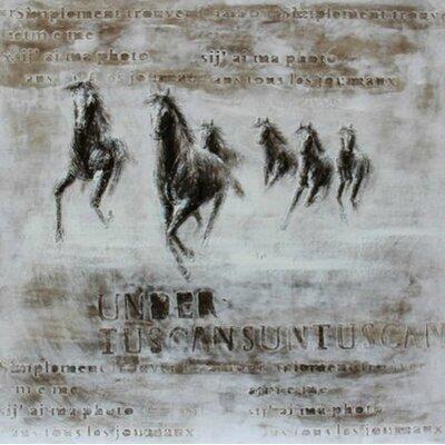 Casabianca Furniture Wild Steeds Framed Painting Print