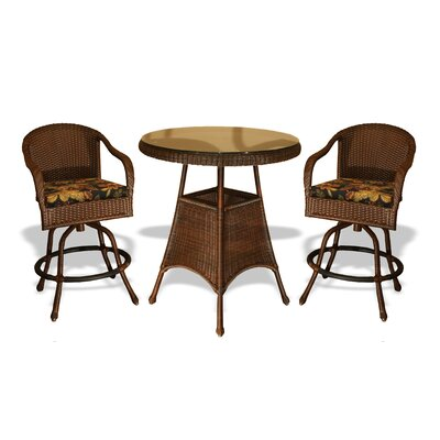 Tortuga Outdoor Lexington 3 Piece Bar Height Dining Set