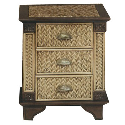 Padmas Plantation Trinidad 3 Drawer Nightstand