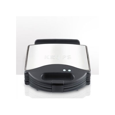 Krups 4 Waffle Maker in Chrome / Black