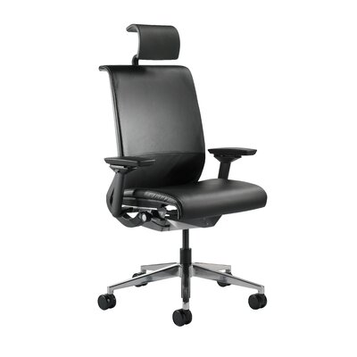 Steelcase Think Mid-Back Leather Office Chair