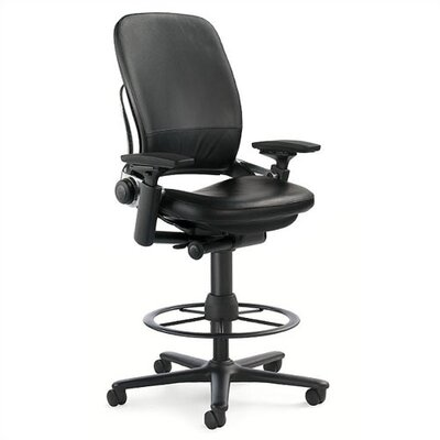 Steelcase Leap 462 Series Leather Height Adjustable Stool