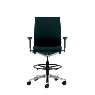 Steelcase Think Upholstered Height Adjustable Drafting Stool