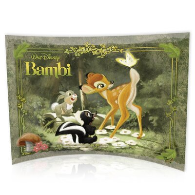 Trend Setters Bambi (Bambi and Butterfly) Curved Glass Print