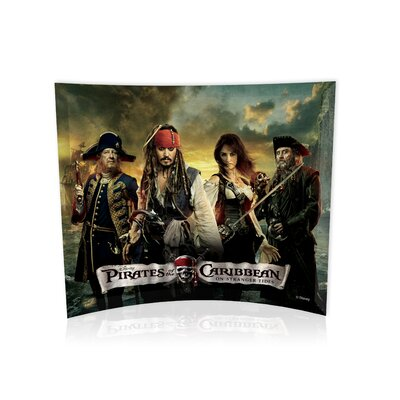 Trend Setters Pirates of the Caribbean On Stranger Tides (Group Collage) Curved Glass Print