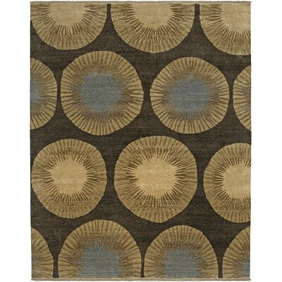 AMER Rugs Enchi Design Chocolate, Hand-Knotted Rug