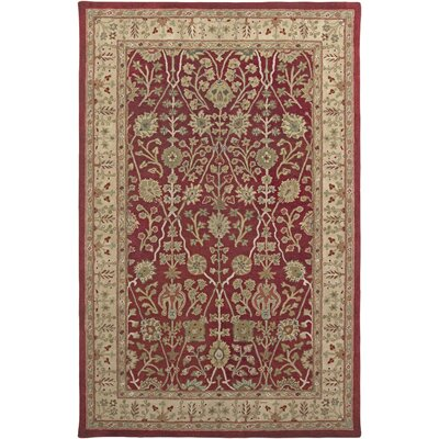 Benedict Design Red, Hand-Tufted Rug