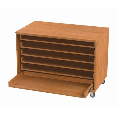 WB Manufacturing Paper Six Roll Out Shelves Storage Unit