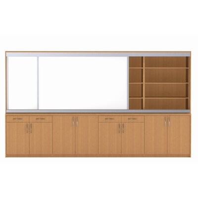 WB Manufacturing Information eXchange Two door / Two Drawer Wall System