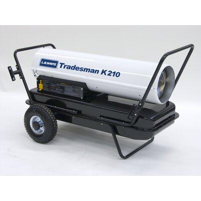 L.B. White Tradesman 210,000 BTU Utility Kerosene Space Heater