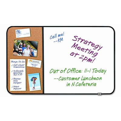 3M Post-It Self-Stick Cork Bulletin and Dry Erase Board