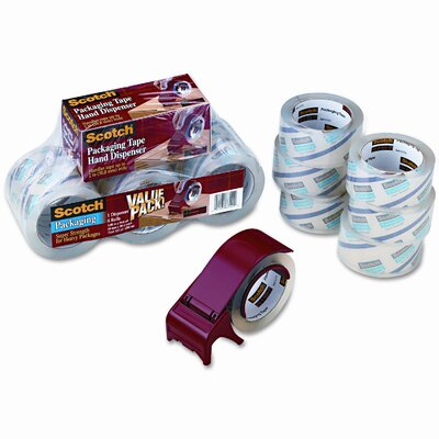 3M Scotch 3850 Heavy Duty Packaging Tape, 6/Pack