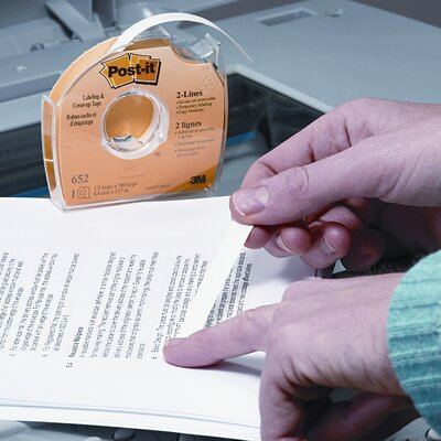 "3M Removable Cover-Up Tape, Non-Refillable, 1/3"" x 700"" roll"