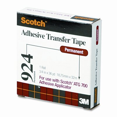3M Scotch Adhesive Transfer Tape Roll