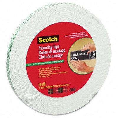 "3M Foam Mounting Tape, 3/4"", 1368"" Long"