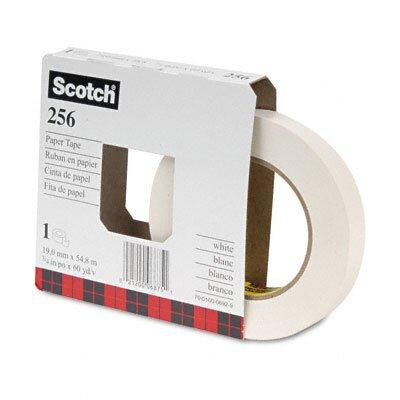 "3M 256 Printable Flatback Paper Tape, 3/4"" x 20 Yards, 3"" Core, 48 per Box"