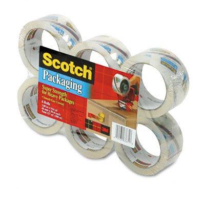 "3M 3500 Packaging Tape, 2"" x 55 Yards, 3"" Core, Clear, Six per Box"