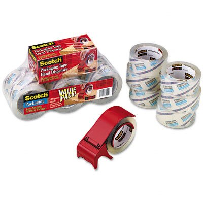 3M Scotch 3850 Heavy Duty Packaging Tape, 6/Pack