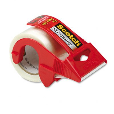 "3M Strapping Tape & Dispenser, 2"" x 10 Yards, 1-1/2"" Core"