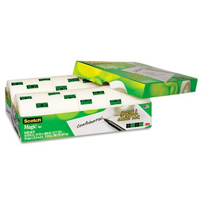 3M Magic Office Tape 18 Roll Cabinet Pack, Bulk Pack