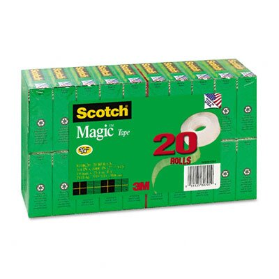 "3M Magic Office Tape Value Pack, 3/4"" x 28 Yards, 1"" Core, Clear"