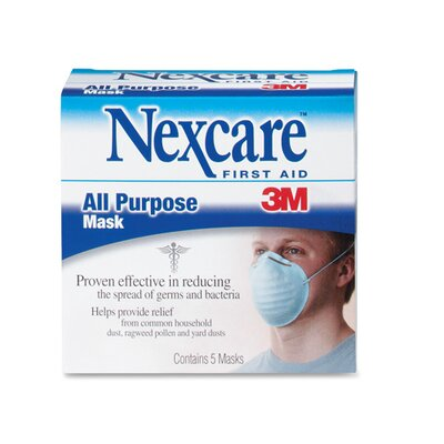 3M All Purpose Filter Masks, White, 5 per Box