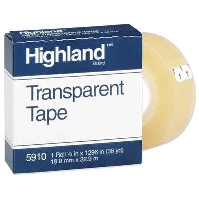 "3M Transparent Tape, 1""x2592, 3"" Core, Clear"